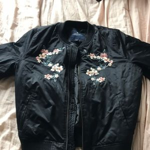 Floral puff jacket